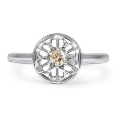 14K White Gold The Eunice Ring from Brilliant Earth