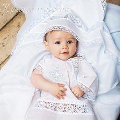 Рубашка на крестины для мальчика