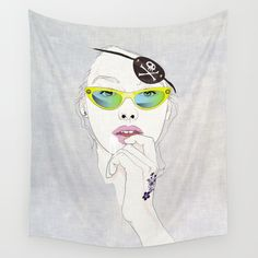 Pirates Mania Wall Tapestry by SEVENTRAPS | Society6