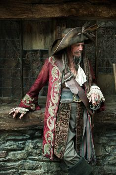 Keith Richards as Captain Teague, father of Captain Jack Sparrow, Pirates of the Caribbean Keith Richards, Charles Vane, Captain Jack Sparrow, Movies Costumes, Jimi Hendricks, Foto Real, Poses References, Pirate Life, Tall Ships