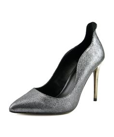 ALDO | Aldo Ceglia Women  Pointed Toe Leather Silver Heels #Shoes #Pumps & High Heels #ALDO