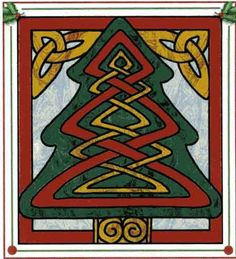 Celtic Holiday Tree Wall Hanging Quilt Pattern at Creative Quilt Kits