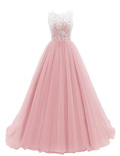 KekeHouse® A-line Wedding Bridesmaid Dress Mother and Daughter Dress Sweetheart Flower Girl Long Lace Prom Dress Blush Age13