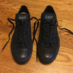 Converse all-star black Perfect condition. Men's size 8/ women's size 10 Converse Shoes