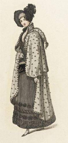 1818 Mourning Carriage Dress. Belle Assemblee. collections.lacma.org