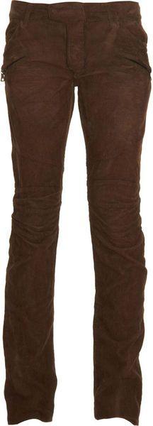 Balmain - Brown Biker Corduroy Trouser for Men - Lyst Guy Style, Corduroy, Balmain, Casual Pants, Parachute Pants, Biker, Trousers, Man Shop, Mens Fashion