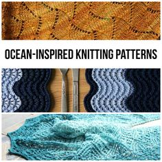 Even if you're not visiting the beach this summer (sigh), you can still pay tribute to the rolling sea with these ocean-inspired knitting patterns.