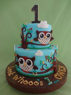 Boy Owl Cake - Cake by Custom Cakes by Ann Marie