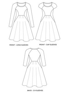 Sew a stylish and comfortable dress. Printed sewing pattern for improvers. Learn to sew knits on a regular sewing machine - no overlocker or serger needed! Retro Vintage, Vintage Mode, Tilly And The Buttons, Love Sewing, Dress Sewing, Knit Dress, Pdf Sewing Patterns, Sewing Ideas, Sewing Projects