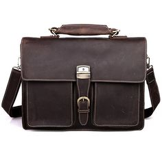 "Men's Handmade Antique Leather Briefcase / Leather Messenger Bag / 15"" MacBook 14"" 15"" Laptop Bag #n47-2"