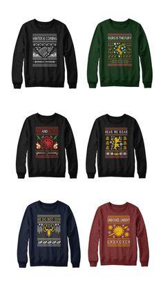 Christmas sweaters meet Game of Thrones