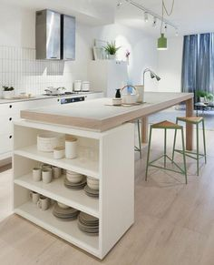 Wonderful Snap Shots Amazing Scandinavian Kitchen Decor Ideas Concepts There's nothing Better than the usual ingenious IKEA Compromise of worn place, and it is a great Diy Kitchen, Kitchen Interior, Kitchen Decor, Open Kitchen, Kitchen Wood, Granite Kitchen, Kitchen Countertops, Kitchen Ideas, Scandinavian Kitchen