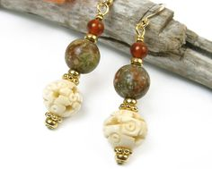Hey, I found this really awesome Etsy listing at https://www.etsy.com/listing/254482263/earthy-jasper-carnelian-earrings-carved