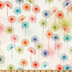 Free Spirit Stoff Pusteblumen von örö material auf DaWanda.com