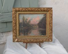 French antique oil painting on board French by LaBonneVie72