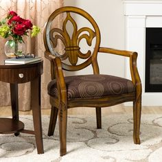 Fleur de Lis Chocolate Chair | Overstock.com Shopping - The Best Deals on Dining Chairs