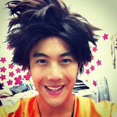 Nigahiga dressed as Goku fot his Naruto the Movie (fake trailer).