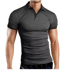 Men Classic Slim Tops Plus Size Causal Shirt Short Sleeve Hit Color Casual Simple Tops Solid Color Gray Red Big Size Men's wu Golf Shirts, V Neck T Shirt, Shirt Men, Vest Men, Red Shirt, Shirt Jacket, Short, Men Casual, Casual Wear