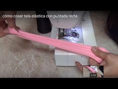 cómo coser tela elástica con puntada recta - YouTube
