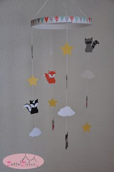 Stampin' Up! beim ZettelZirkus: Fuchs, Eule und Co., Mobile, Foxy Friends, Ausgefuchst, Pink mit Pep, September Baby 2016,
