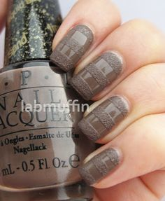 OPI It's All San Andreas' Fault and B-Bloom Boston, a matching regular creme. I used tape to mask off the stripes. Lab Muffin #nail #nails #nailart