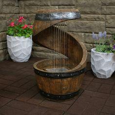 Backyard Patio, Backyard Landscaping, Backyard Waterfalls, Backyard Ponds, Indoor Water Fountains, Outdoor Fountains, Garden Fountains, Patio Fountain, Barrel Projects