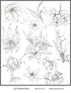 tatto flower drawings   Flower flash by ~oOAjaDewOo on deviantART