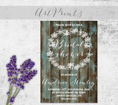 Bridal Shower Invitation Printable Rustic Bridal Printable Invite Barn Wood Bridal Shower Invitation