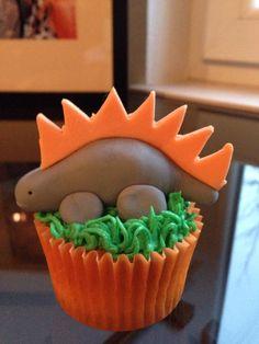 Dinosaur cupcake for kids by Isa