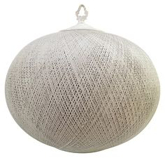 One Kings Lane - Southern Roots - Woven Wicker Ball Pendant One Kings Lane, Wicker, Ottoman, Pendant, Fun Stuff, Roots, Globe, Southern, Furniture