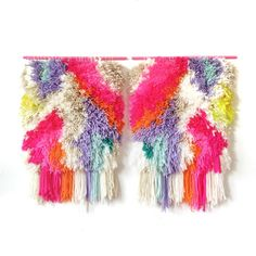 MADE TO ORDER  Woven wall hanging / Furry Electric door jujujust