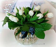 valkoiset tulppaanit, tulips