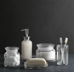 Restoration Hardware - Pharmacy Accessories Frosted Glass ...
