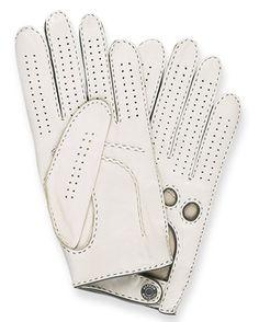 Dunhill, Driving Gloves (via tomburke) White Leather, Leather Men, Soft Leather, Leather Driving Gloves, Leather Gloves, Women Accessories, Fashion Accessories, Dapper Men, Mens Gloves