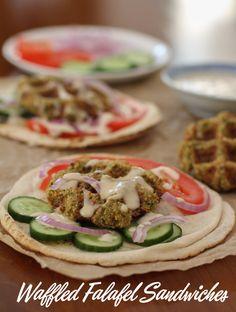Food Lust People Love: Waffled Falafel Sandwiches #SundaySupper