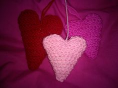 Hand crocheted hearts