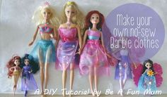 Make your own no-sew Barbie clothes