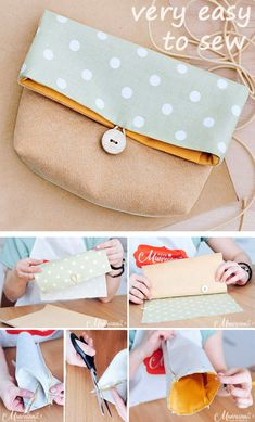 We sew a cosmetic bag. We're sewing a cosmetic bag., We sew a cosmetic bag. We sew a cosmetic bag. ~ Sewing projects for beginners. Step by step sewing tutorial. How to sew illustration. Bag Patterns To Sew, Sewing Patterns Free, Free Sewing, Sew Pattern, Dress Patterns, Sewing Hacks, Sewing Tutorials, Sewing Tips, Tutorial Sewing