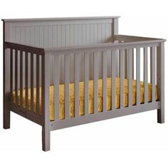 Lolly and Me Americana 4 in 1 Convertible Crib Pebble Gray With 3 Height for sale online Baby Crib Sets, Baby Cribs, 4 In 1 Crib, Unique Headboards, Buy Tile, Pebble Grey, Primitive Homes, Convertible Crib, Daybed