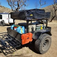 Mark's Jeep camping trailer now setup with a telescoping DIY No Weld Trailer Rack Jeep Camping Trailer, Kayak Trailer, Off Road Camper Trailer, Trailer Build, Truck Camping, Diy Camping, Camper Trailers, Camping Gear, Camping Essentials