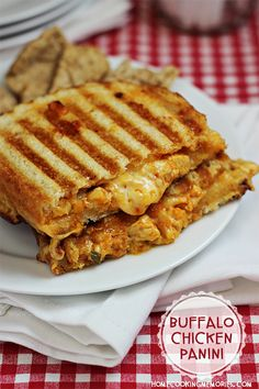 Buffalo Chicken Panini recipe - a simple, cheesy sandwich for those who also love buffalo chicken #shop #cbias