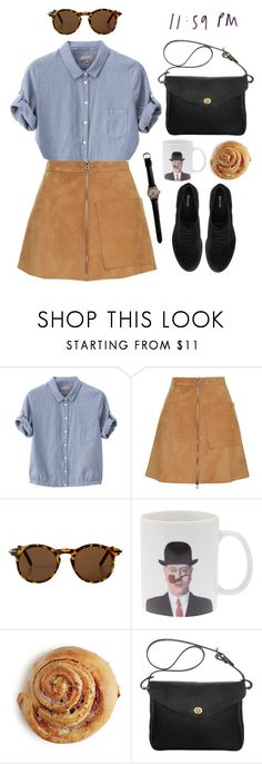 """sweet jane"" by celluloid ❤ liked on Polyvore featuring Margaret Howell, Topshop, Monki, Mimi Berry, Dune, suede, brogues, ShoulderBag, buttondown and suedeskirt"