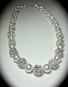 South Sea Pearl and Diamond Necklace BEAUTIFUL !!!