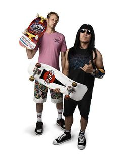 Hawk and Hosoi... two legendary dudes that have spent more time in the air doing their thing, than rolling around on the flat. May they continue to inspire us for years yet.