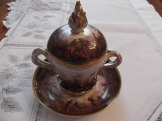 Rare Hand Painted Dresden Trembleuse in a by reginatherrienstock, $700.00