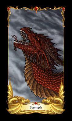 Dragon Tarot - Strength by ~alecan on deviantART