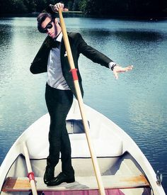 Matt Smith. 1 second after this picture was taken he saw a fish, got really excited, then fell out of the boat