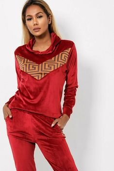 Red Side Stripe Velour Tracksuit Lounge Sets Joggers Hoody Gym Yoga 8 10 12 14 #Unbranded Hoody, Online Price, Joggers, Jumpsuit, Lounge, Gym, Retro, Best Deals, Pants