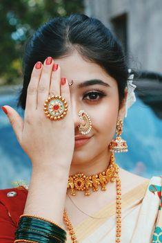Makeup Bar, Bridal Makeup, Old Man Portrait, Nose Ring Jewelry, Indian Wedding Wear, Indian Lehenga, Indian Wedding Decorations, Indian Wedding Photography, Wedding Season