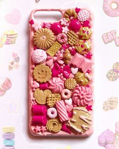 Cool phone cases, phone covers, decoden, iphone 8 plus, iphone Kawaii Phone Case, Decoden Phone Case, Diy Phone Case, Cute Phone Cases, Iphone Cases, Iphone 8 Plus, Clay Crafts, Phone Covers, My Etsy Shop